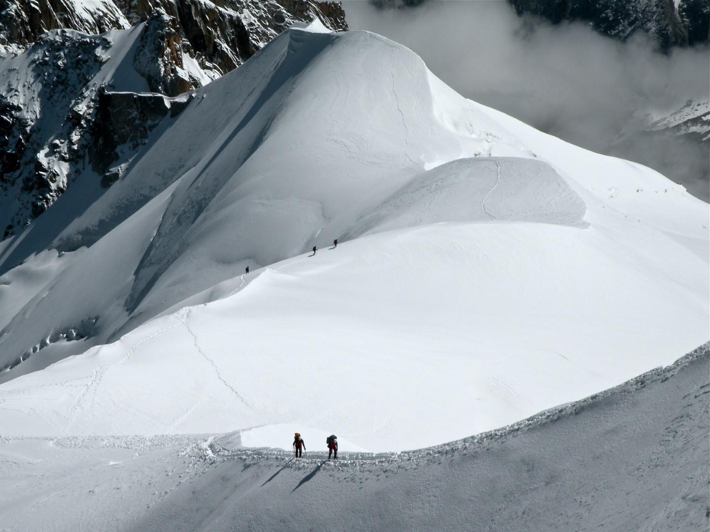 Arista de Midi. Alpes. Francia. 2010. Benito Jiménez Martinez. (Grande)