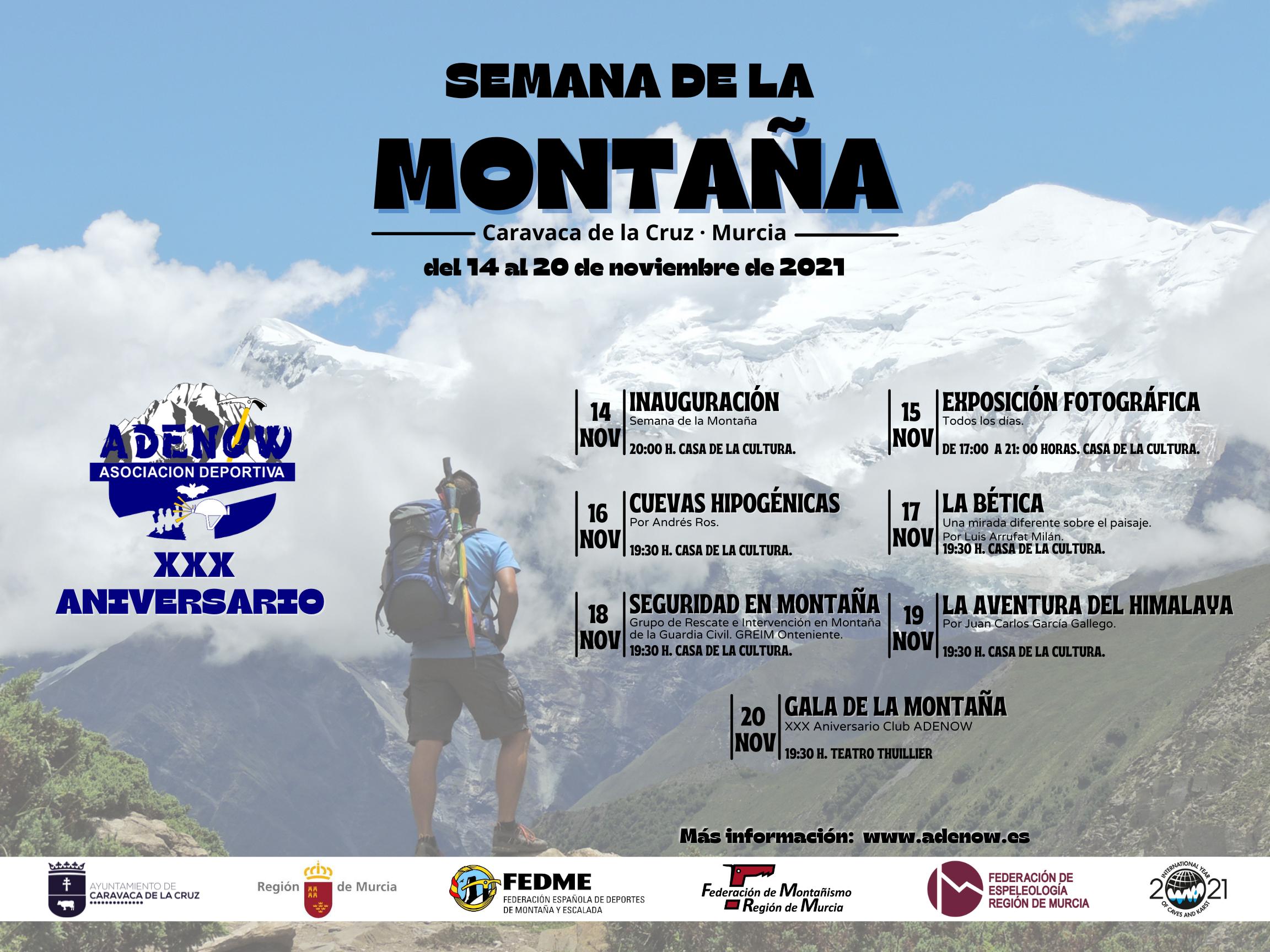 Cartel Semana de la Montaña 2021